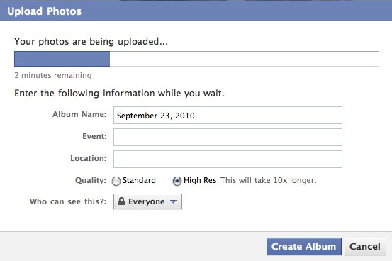 facebook phot uploader