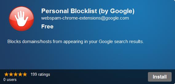 personal blocklist extensionpersonal blocklist extension