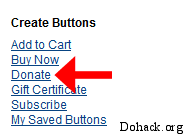 Paypal donate button create